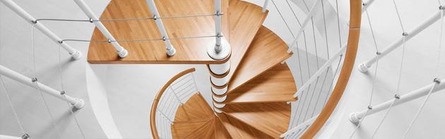 En spiraltrappa till Stugan