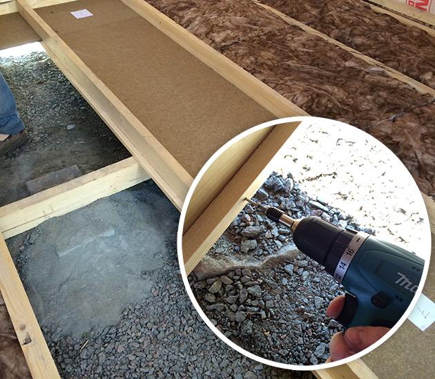 Isolering av golvet i boden, Stugan i Viken
